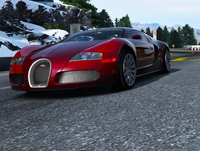 Bugatti Veyron on the Bernese Alps track