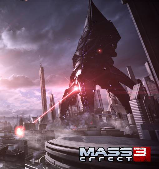 A Repaer attacks an Earth city. Image from the Mass Effect web site.
