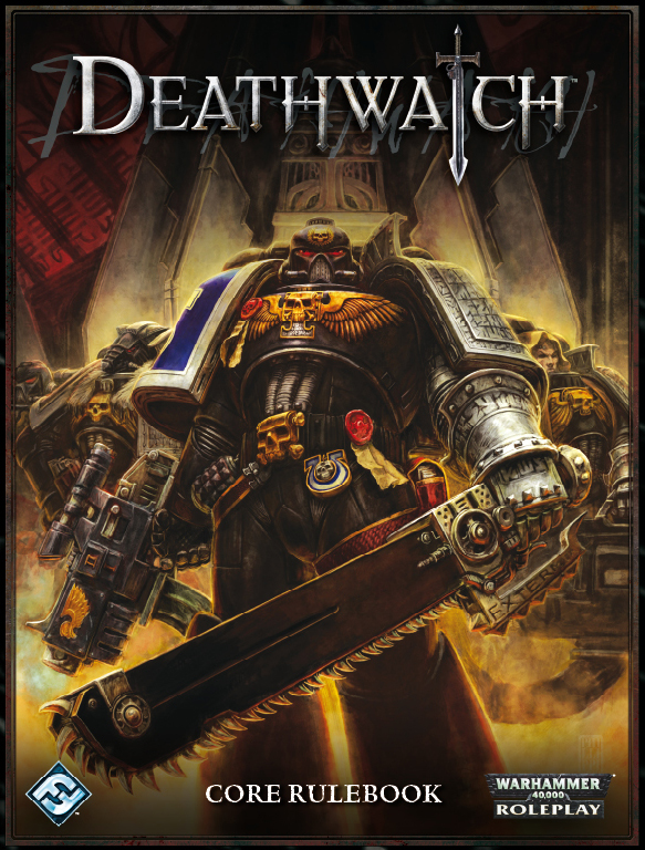 The Deathwatch roleplaying game. Image from Fantasy Flight Games.
