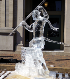 An ice carving.