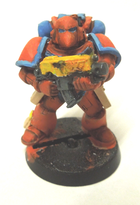 Space Marine with basic shading and highlights