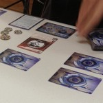 My first game of Android: Netrunner. Photo by Andrew Stingel.
