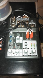 My Behringer Xenyx520 Mixing Board.