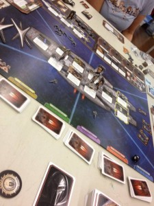 A game of Battlestar Galactica in progress. Photo by Andrew Stingel.